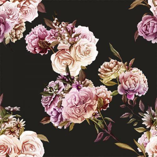 Dark Roses Pattern