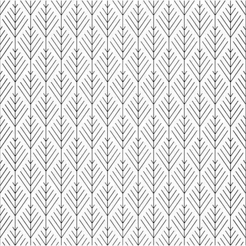 Geo Trees Pattern