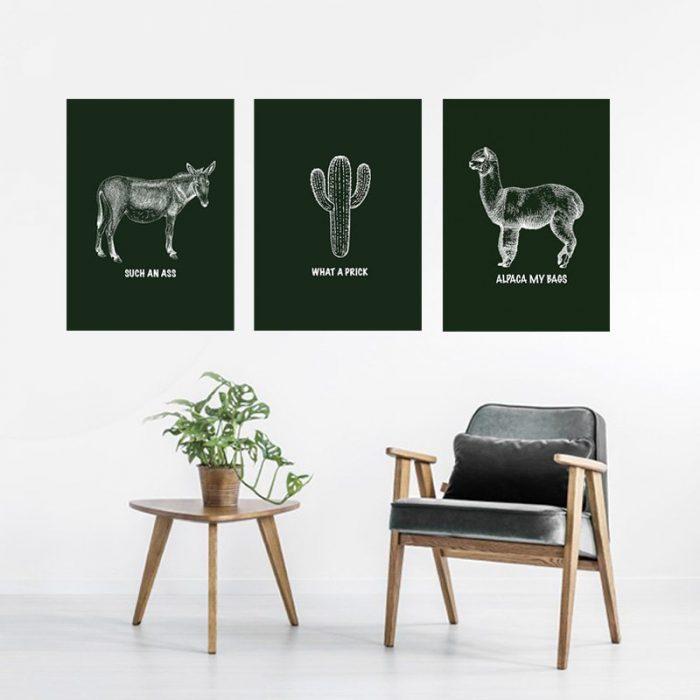 Alpaca Poster Set