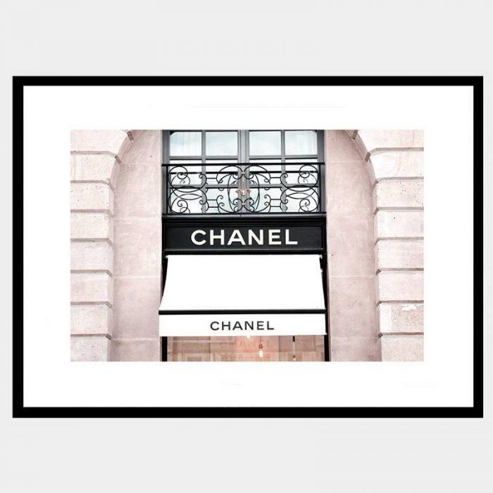 Chanel Window - Flat Matte Black