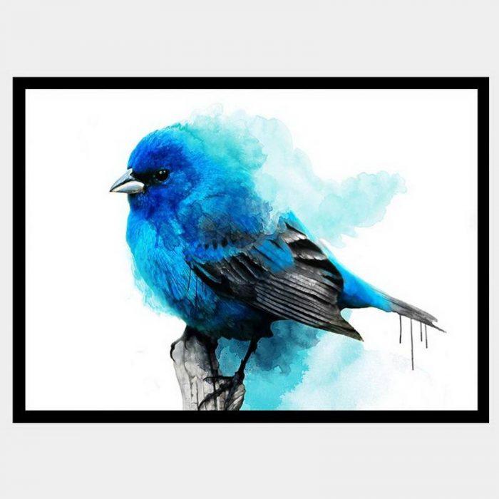 Cheeky Bluebell - Flat Matte Black