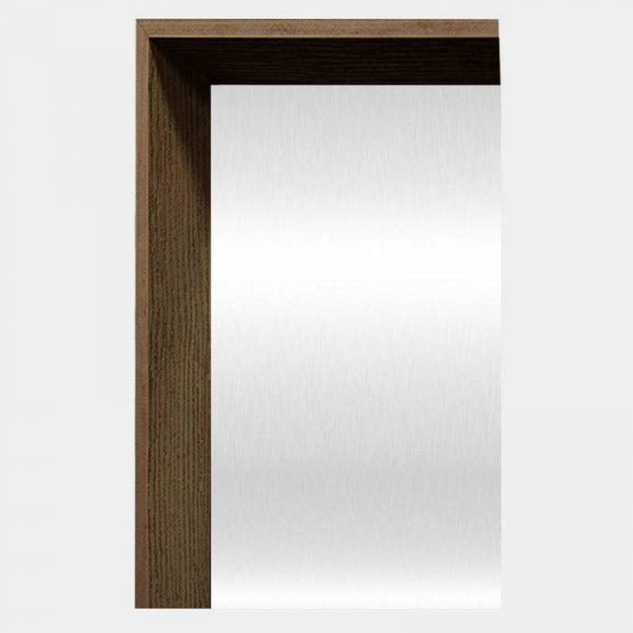 Chocolate Arched Mirror - Corner
