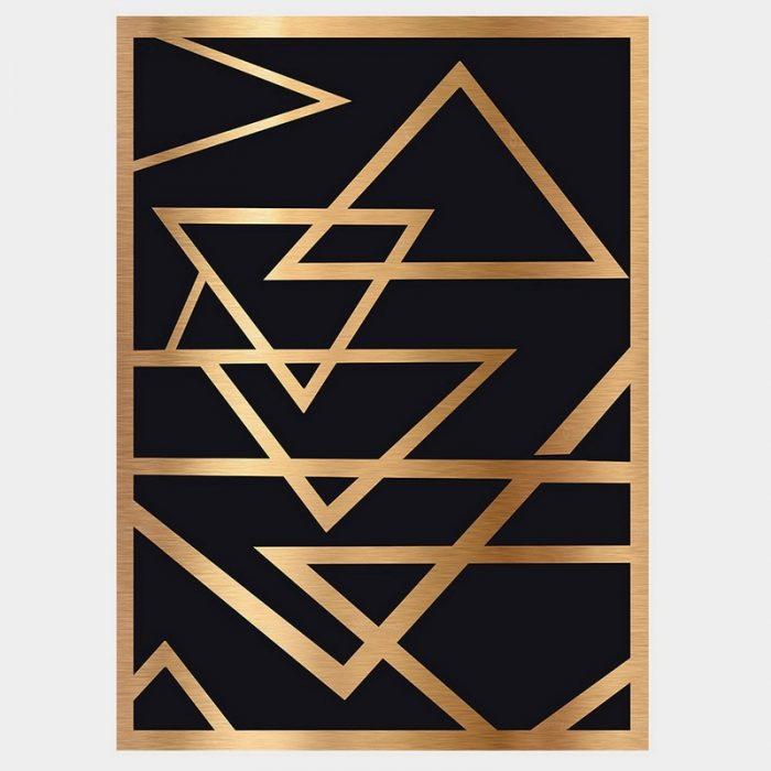 Deco Gold Poster