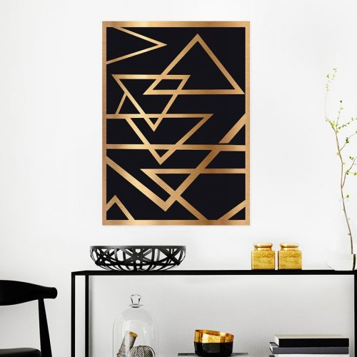 Deco Gold Poster Room