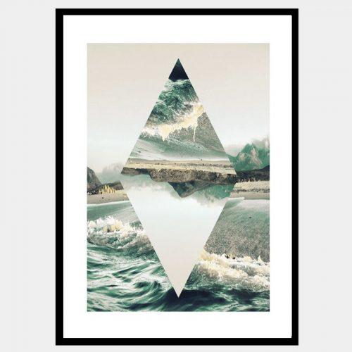 Diamond Reflections - Flat Matte Black
