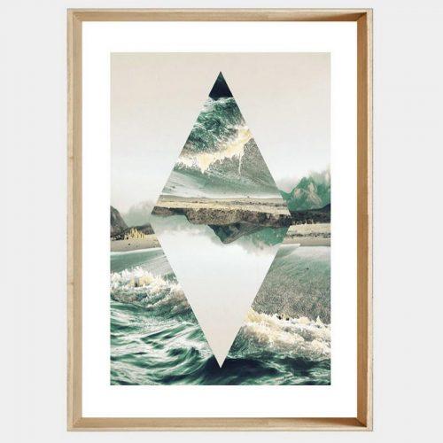 Diamond Reflections - Soft Natural Angled