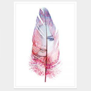 Dreamscape Pink - Flat Matte White