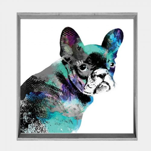 Frenchie - Soft Grey Angled