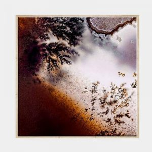 Frosty Rust Canvas - Natural Box Frame