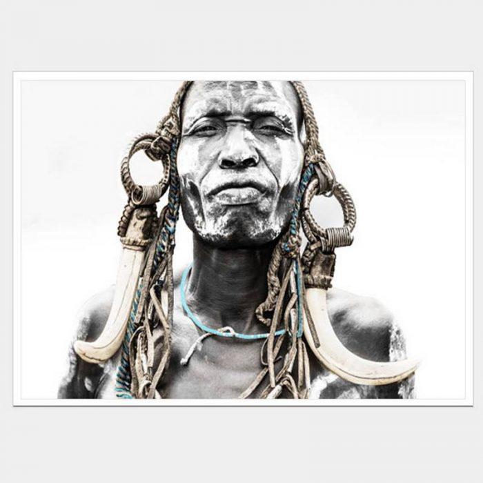 Ghana Warrior - Flat Matte White