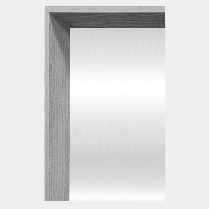 Grey Arched Mirror - Corner