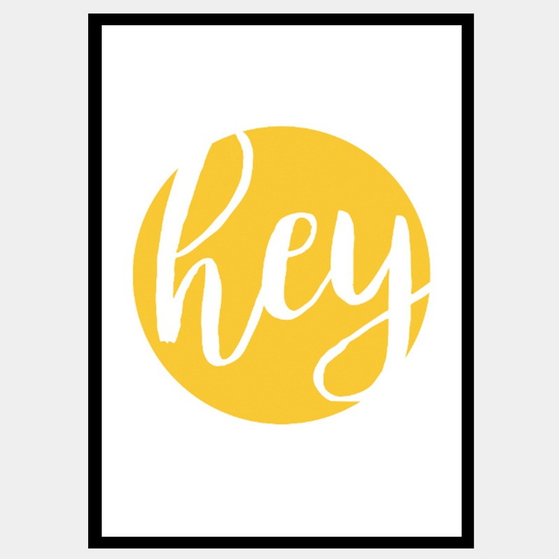 Hey Yellow Framed Print Iconico Designs