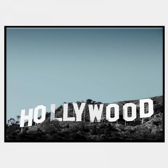 Hollywood Blue Canvas - Black Box Frame