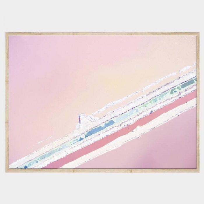 Ice Cream Seas Canvas - Natural Box Frame