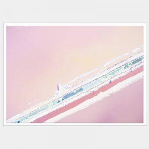 Ice Cream Seas Canvas - White Box Frame