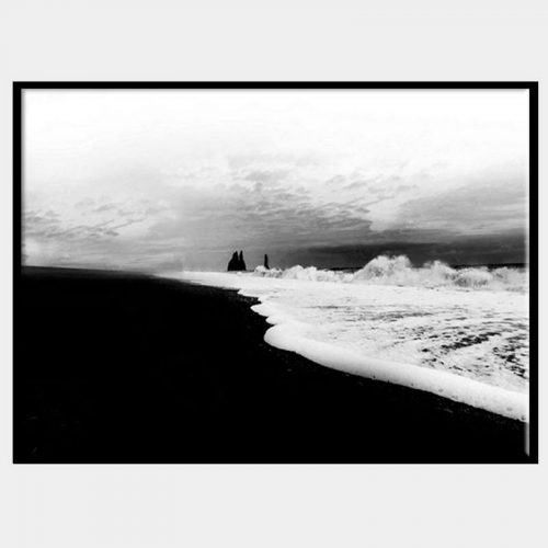 Iceland Sands Canvas - Black Box Frame