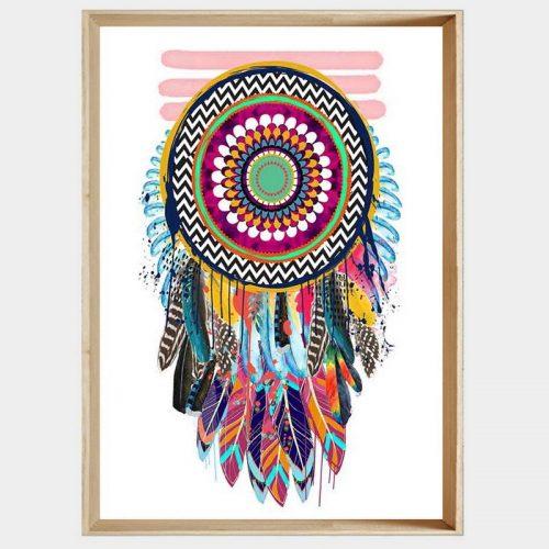 Lakota Dreamcatcher - Soft Natural Angled