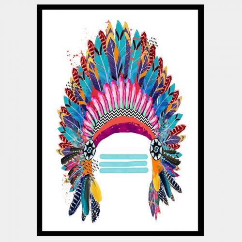 Lakota Headdress - Flat Matte Black