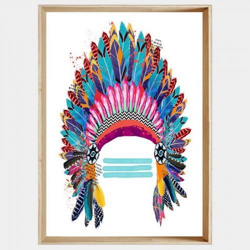 Lakota Headdress - Soft Natural Angled