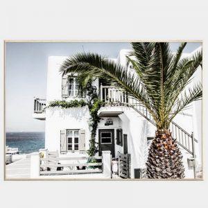 Lazy Holiday Canvas - Natural Box Frame
