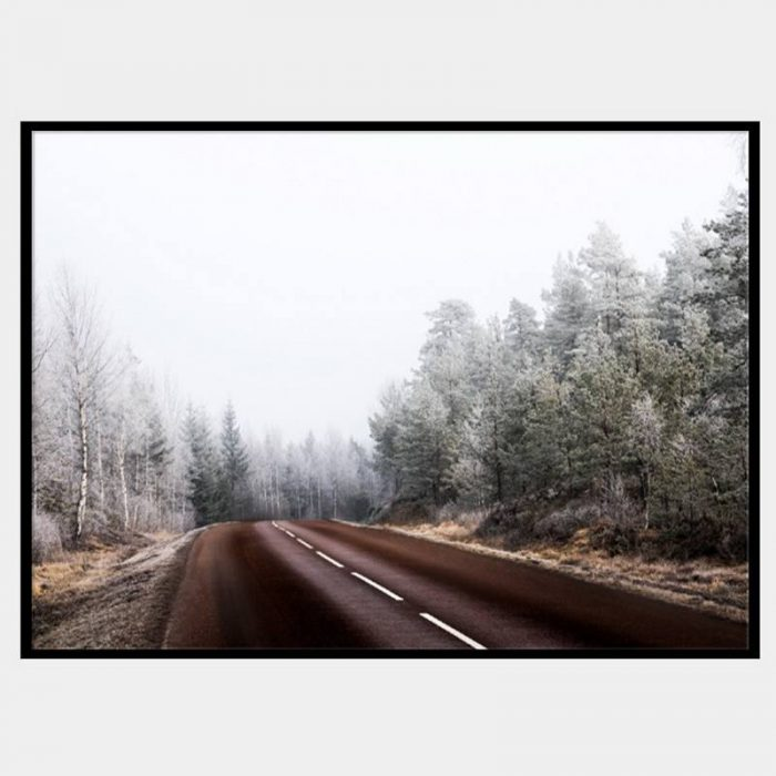 Long Road Canvas - Black Box Frame