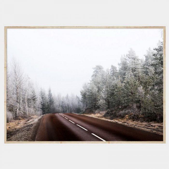 Long Road Canvas - Natural Box Frame