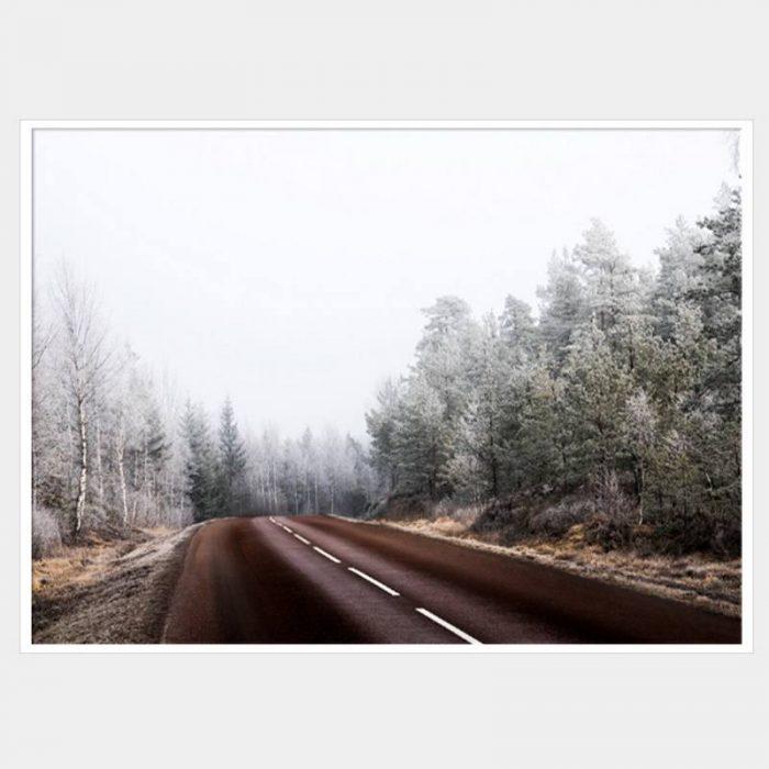 Long Road - White Box Frame