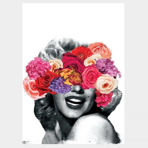 Marilyn Floral Poster
