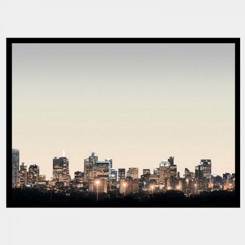 Melbourne Lights - Flat Matte Black