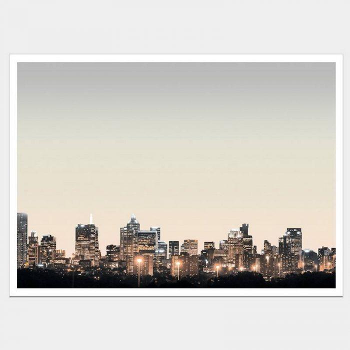 Melbourne Lights - Flat Matte White