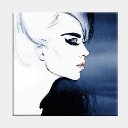 Monty Blue Canvas - No Frame