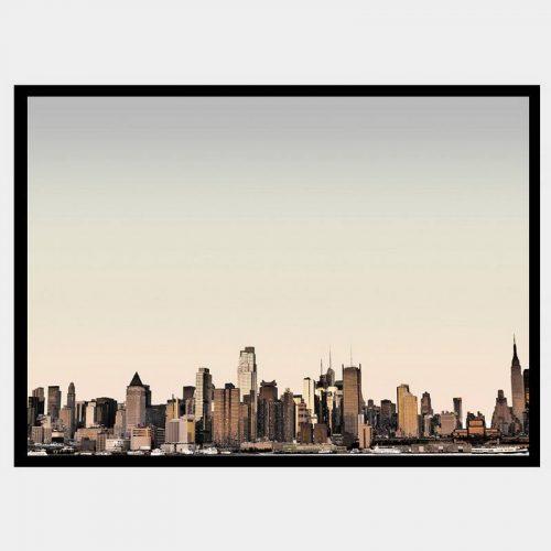NYC Sunset - Flat Matte Black