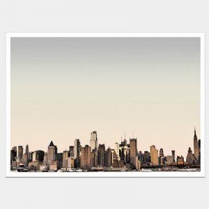 NYC Sunset - Flat Matte White