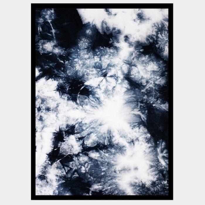 Navy Crystals - Flat Matte Black