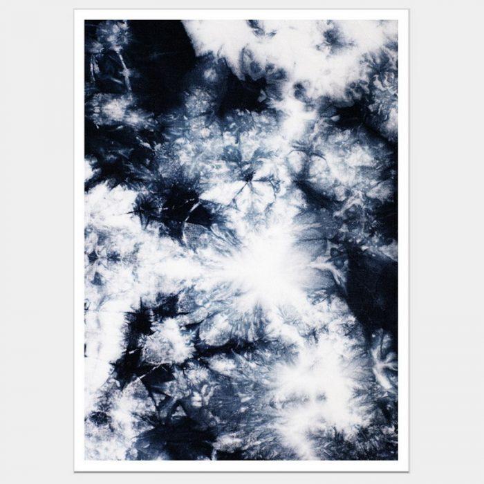 Navy Crystals - Flat Matte White