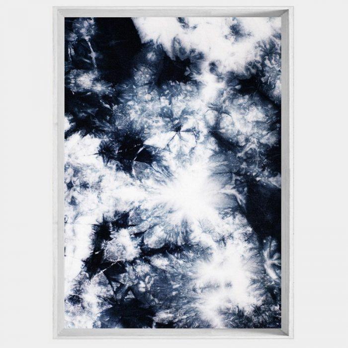 Navy Crystals - White Angled