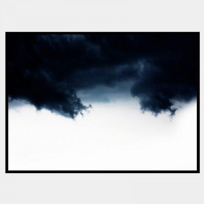 Navy Waves Canvas - Black Box Frame