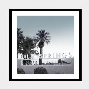 Palm Springs Sunrise - Flat Matte Black
