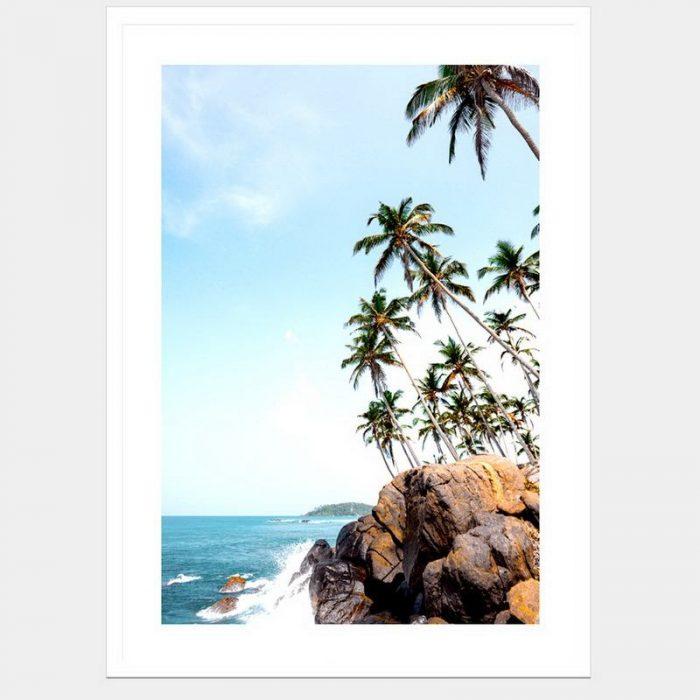 Paradise Cliffs - Flat Matte White