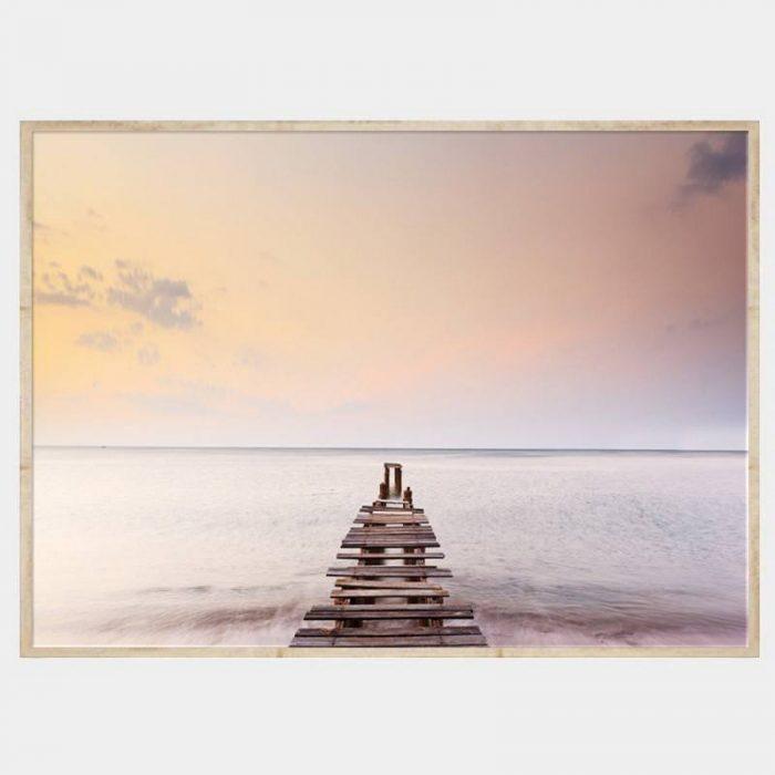 Peaches and Cream Canvas - Natural Box Frame