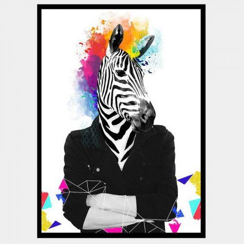 Punk Zebra - Flat Matte Black