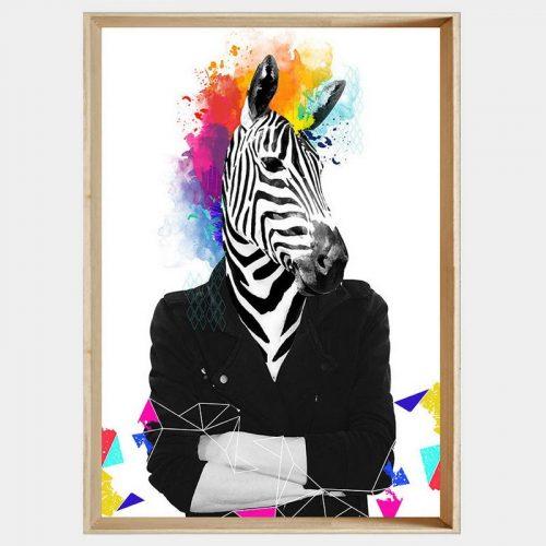 Punk Zebra - Soft Natural Angled
