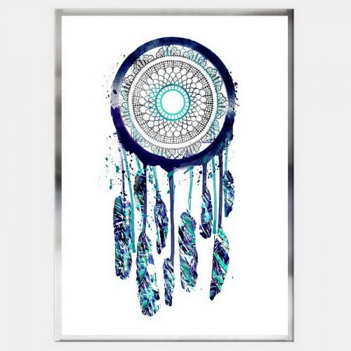 Rain Dancer Dreamcatcher - Flat Chrome