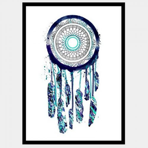 Rain Dancer Dreamcatcher - Flat Matte Black