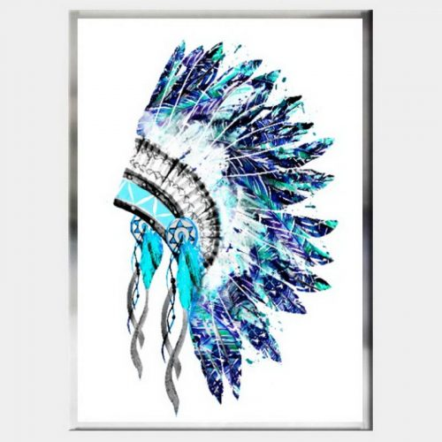 Rain Dancer Headdress - Flat Chrome