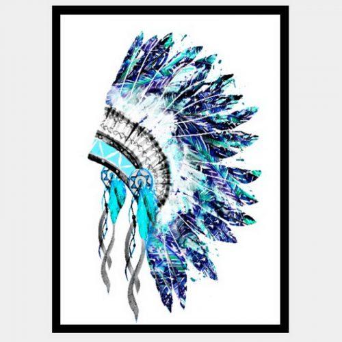 Rain Dancer Headdress - Flat Matte Black