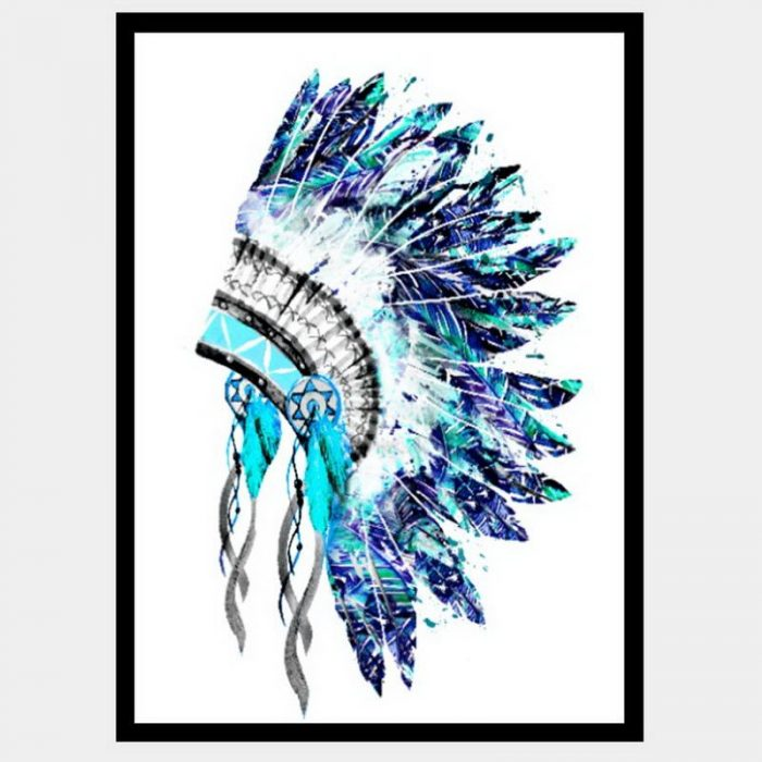 Rain Dancer Headdress - Flat Matte Black