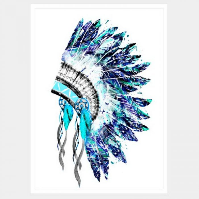Rain Dancer Headdress - Flat Matte White