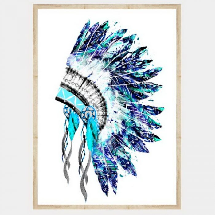 Rain Dancer Headdress - Flat Natural