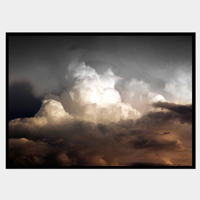 Rustic Clouds - Flat Matte Black